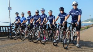 Mitre women on seafront