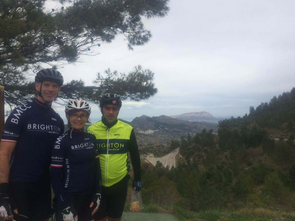 BMCC Calpe training camp view from the t