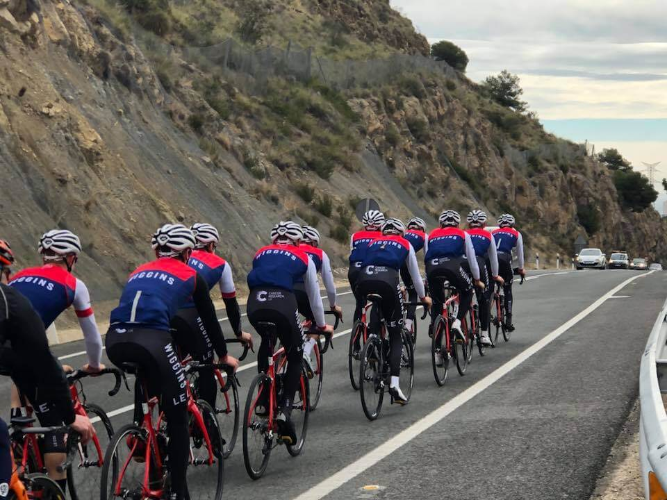 team wiggins in Calpe